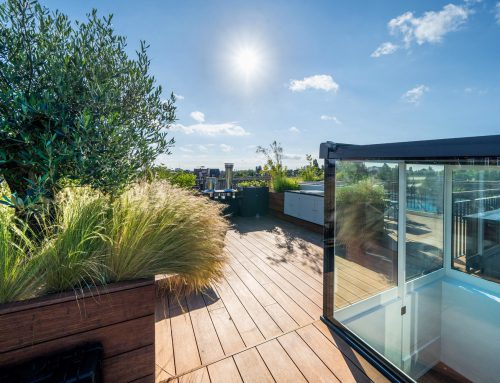 Rooftop accessed by sliding doors